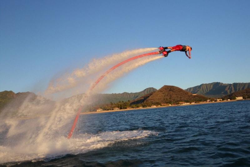 flyboard flying - water sports