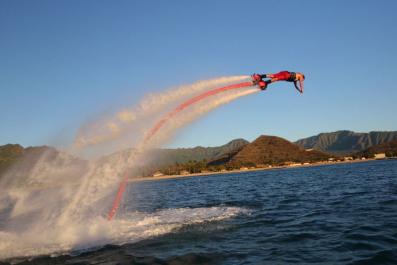 flyboard flying - water sports