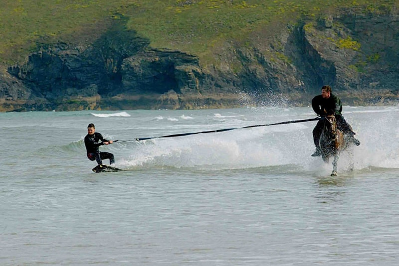 horse surfing - water sports