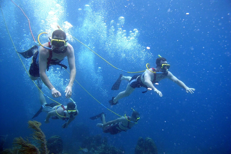 snuba diving - water sports