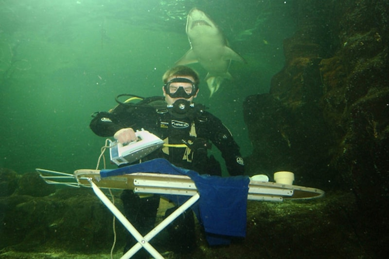 underwater extreme ironing - water sports you must try