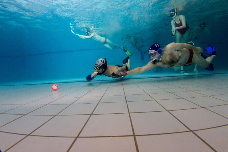 underwater hockey - water sports