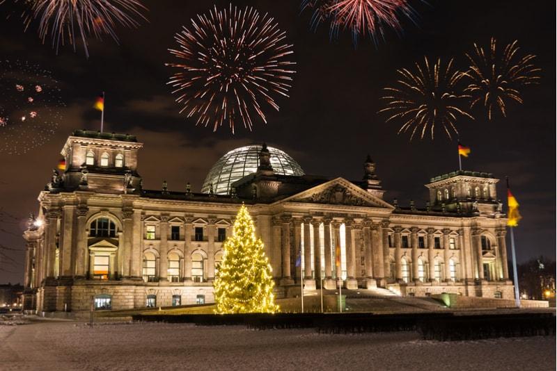 berlin-New Year's Fireworks