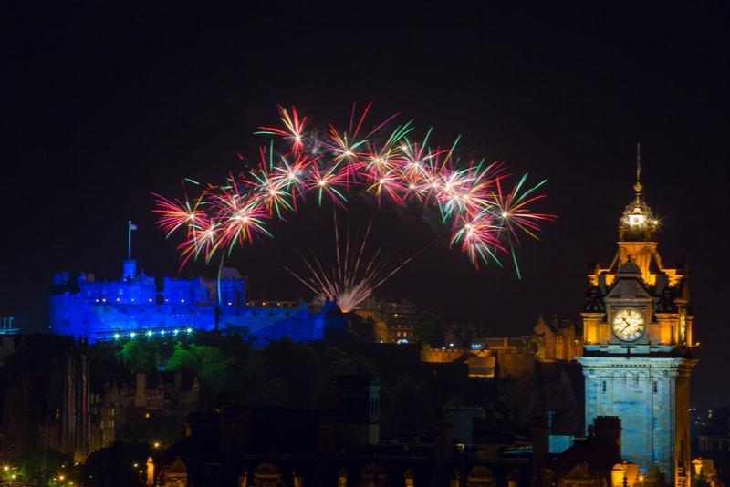 edimburgh-New Year's Fireworks