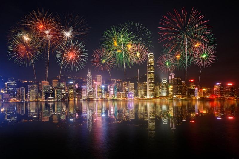 hong kong-New Year's Fireworks