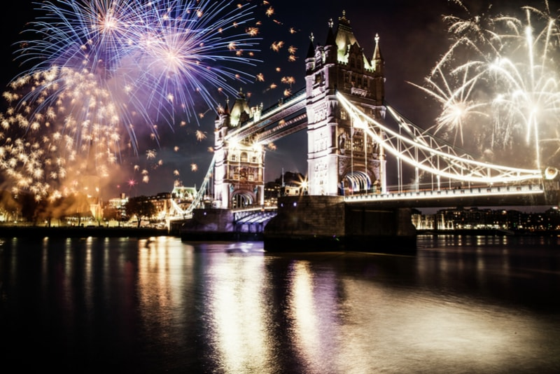 london-New Year's Fireworks