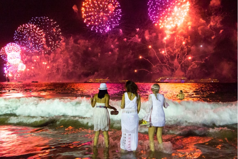 rio de janeiro-New Year's Fireworks