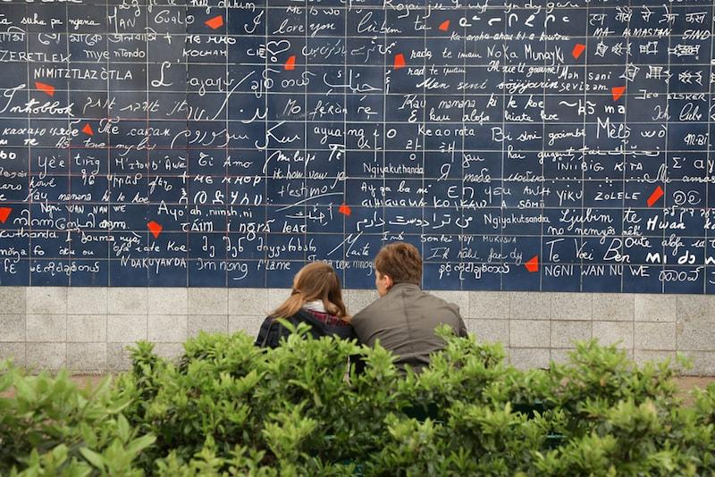 Mauer der Liebe - Orte, die Sie in Paris besuchen sollten