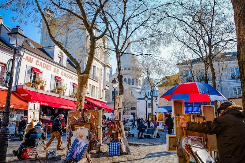 Montmartre Viertel - Sehenswürdigkeiten in Paris