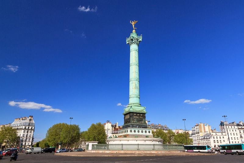 Praça da Bastilha - Lugares e atrações em Paris