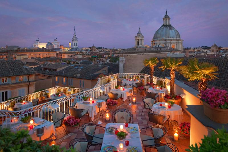 L'Hotel Raphael à Rome - Meilleurs Rooftops du Monde