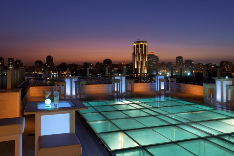 Roof Pool Bar at Kempinski Nile Hotel - Best rooftops bars in the world