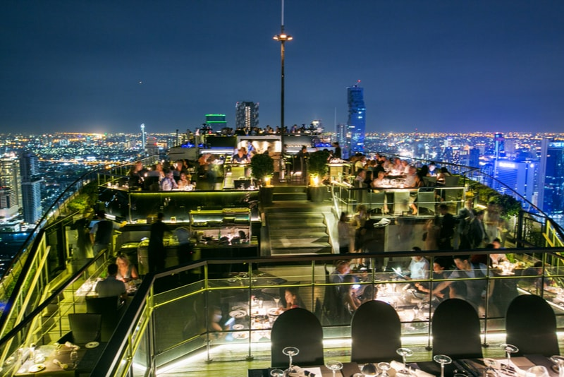 Vertigo And Moon Bar at Banyan Tree – Bangkok- migliori rooftop
