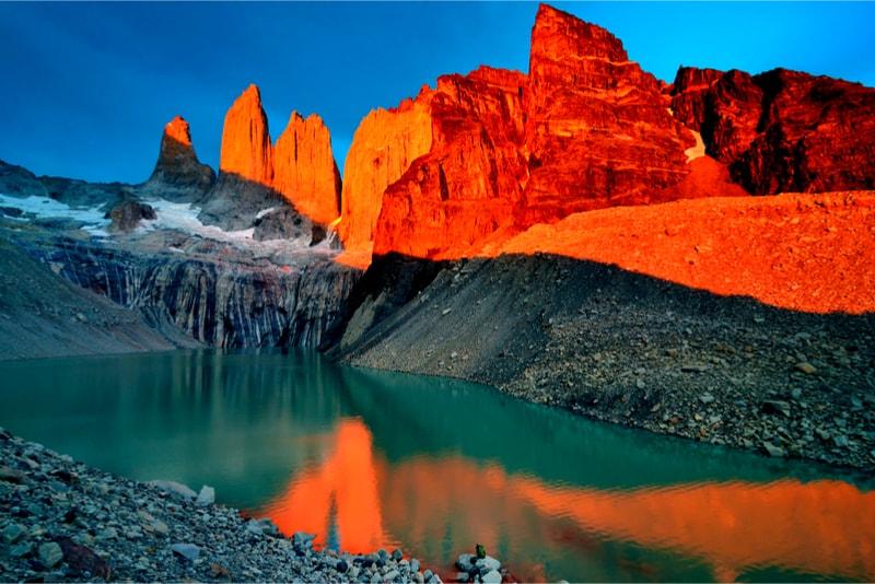 Coucher de soleil sur le Torres del Paine - 14 Treks Sensationnels dont vous n'avez Sûrement Jamais Entendu Parler