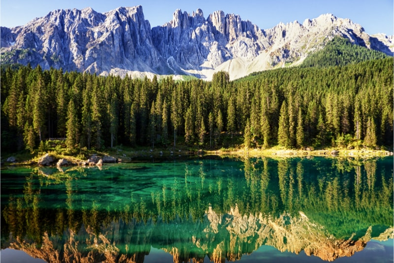 Lake in the Dolomites - Hiking Trails