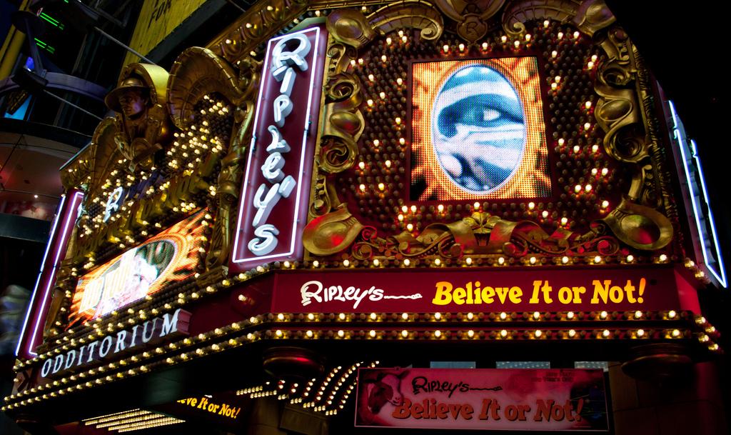 Ripley Believe it or not - Coisas para fazer em Nova Iorque