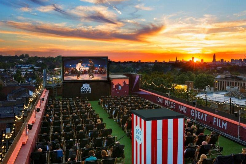 Rooftop Film Club outdoor cinema in London