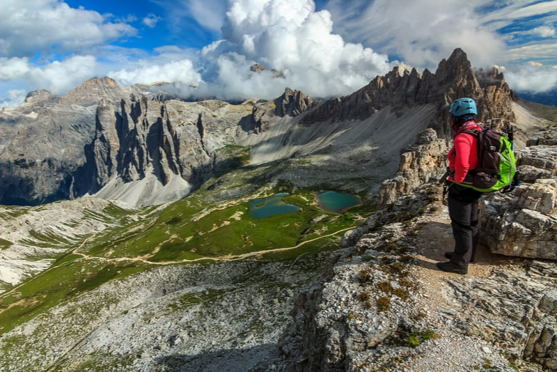 Woman on the Dolomites - Hiking Trails