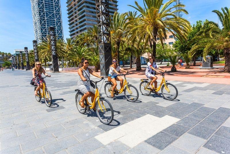 Fahrradtour in Barcelona