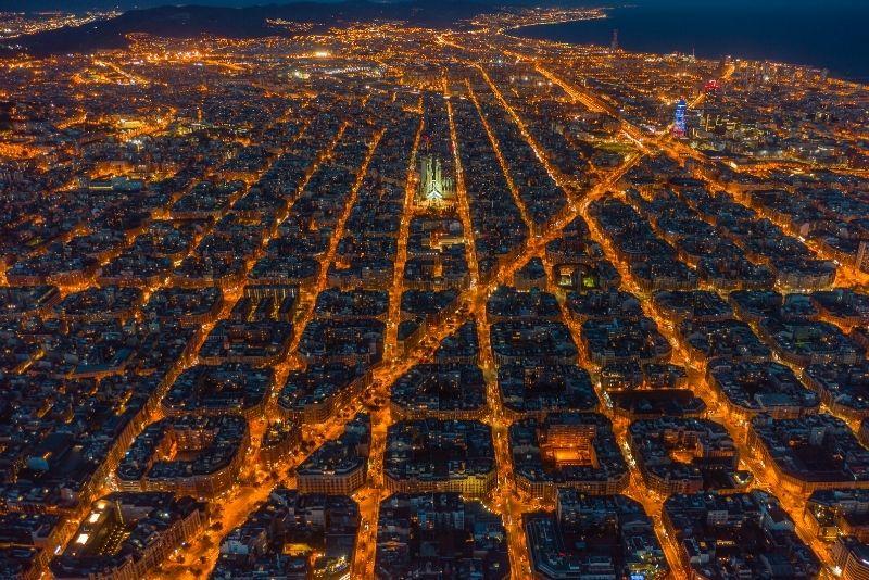 Hubschrauberrundflug in Barcelona