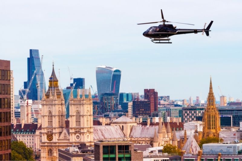 helicopter tour in London