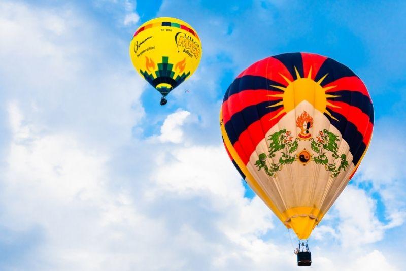Heißluftballonfahrt in der Nähe von Barcelona