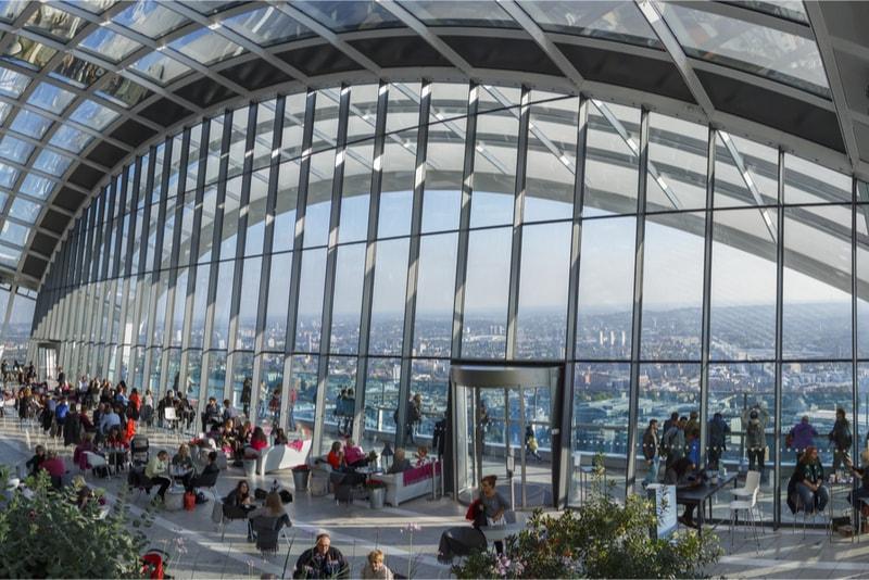 Sky Garden - 18 Choses Originales à Faire à Londres en 2019