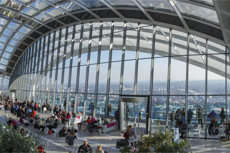 Sky Garden - 18 Choses Originales à Faire à Londres en 2019