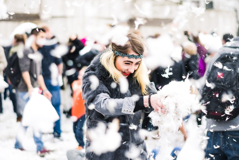 Pillow fight in Barcelona -Things to Do in Barcelona - Cool, Unmissable and Unsual Activities