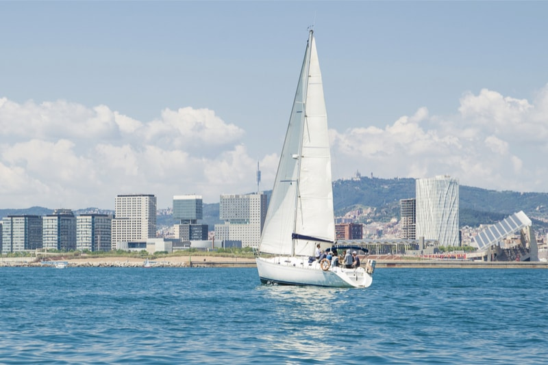 Sailing from Port Vell - things to do in Barcelona