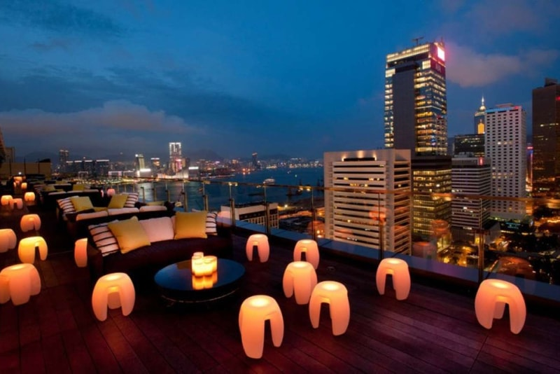 Sevva rooftop - things to do in Hong Kong