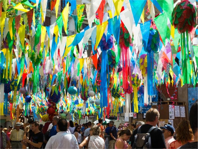 Fête dans les rues de Gràcia - Choses à Faire à Barcelone