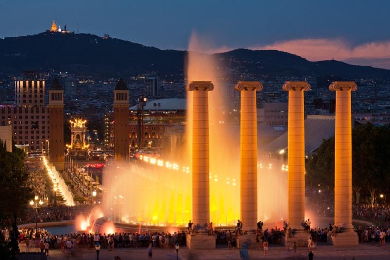 Fontana di Montjuic - Cose da Fare a Barcellona