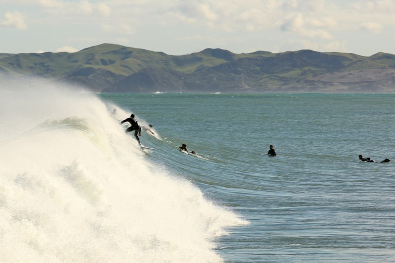 Raglan, New Zealand-surfing spots