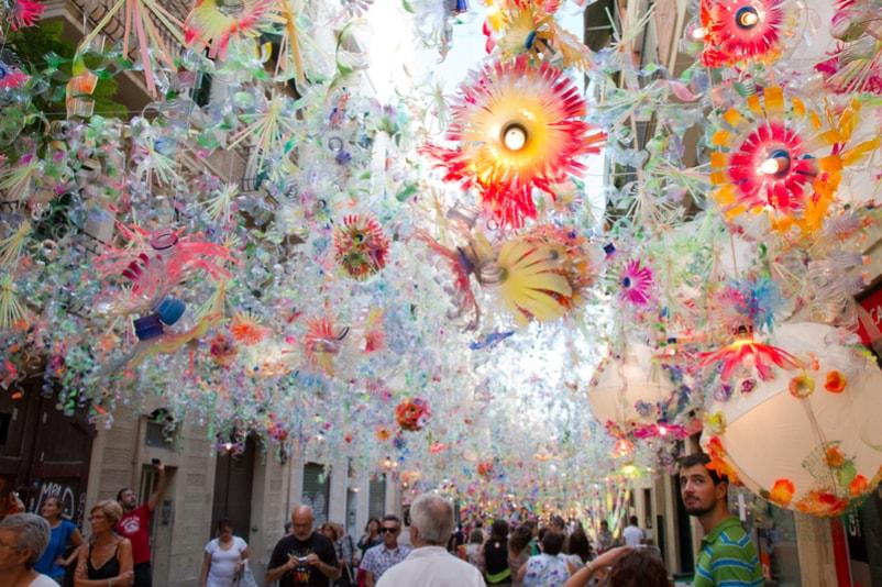 Rue colorée de Gràcia - Choses à Faire à Barcelone