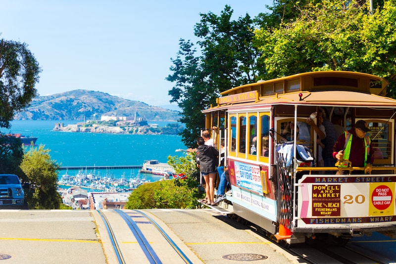 Ride on cable cars in downtown -Things to do in San Francisco
