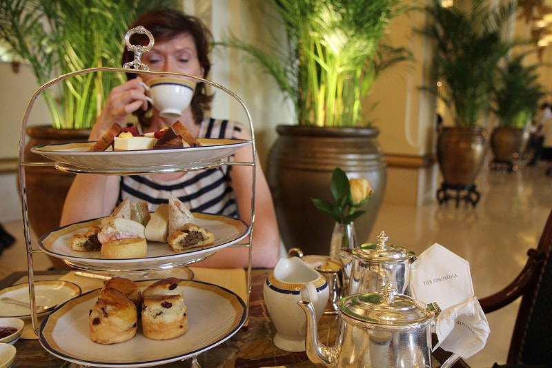Afternoon tea at Peninsula - things to do in Hong Kong
