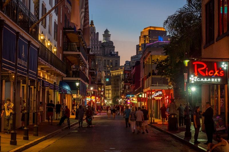 Bourbon Street in New Orleans - Bucket List ideas