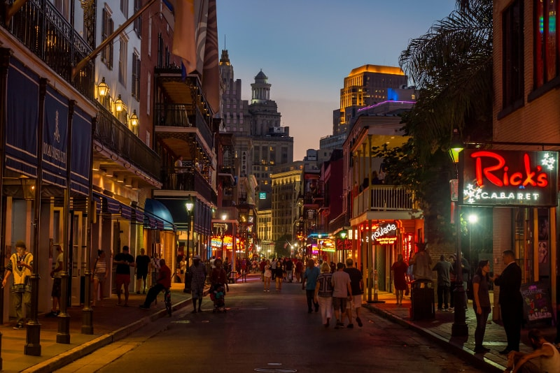 Bourbon Street in New Orleans - Bucket List ideas