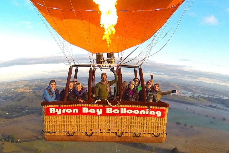 Byron Bay à bord d'une montgolfière - Que faire en Australie