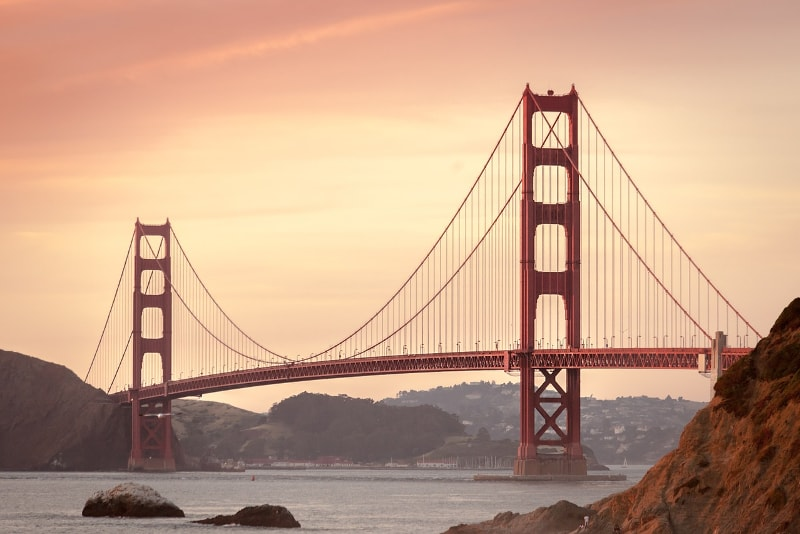 Golden Gate Bridge in San Francisco - Bucket List ideas