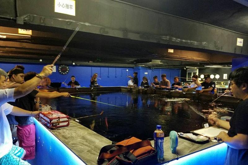 Indoor fishing at HA Cube - things to do in Hong Kong