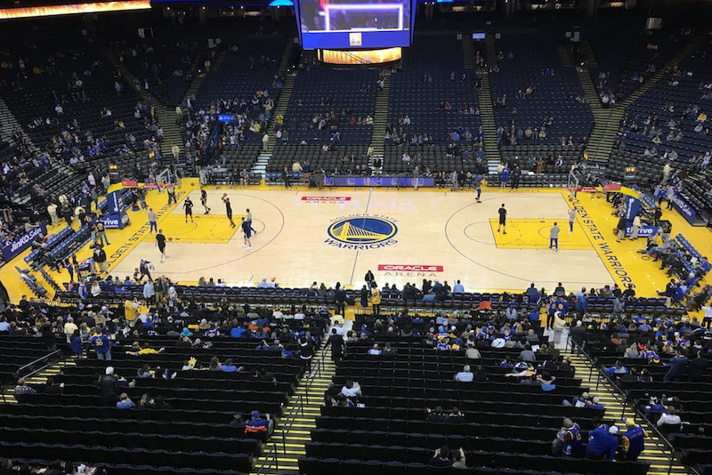 Golden States Warriors team at Oracle Arena- Things to do in San Francisco