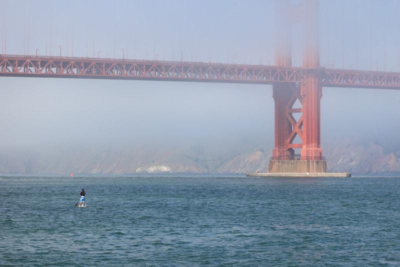 Paddle sotto il ponte - Cose da Fare a San Francisco