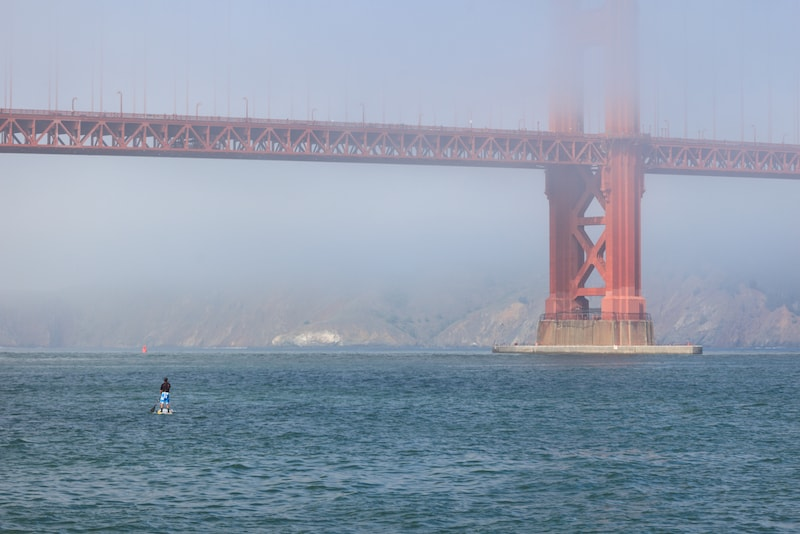 Puddle under Golden Gate -Things to do in San Francisco