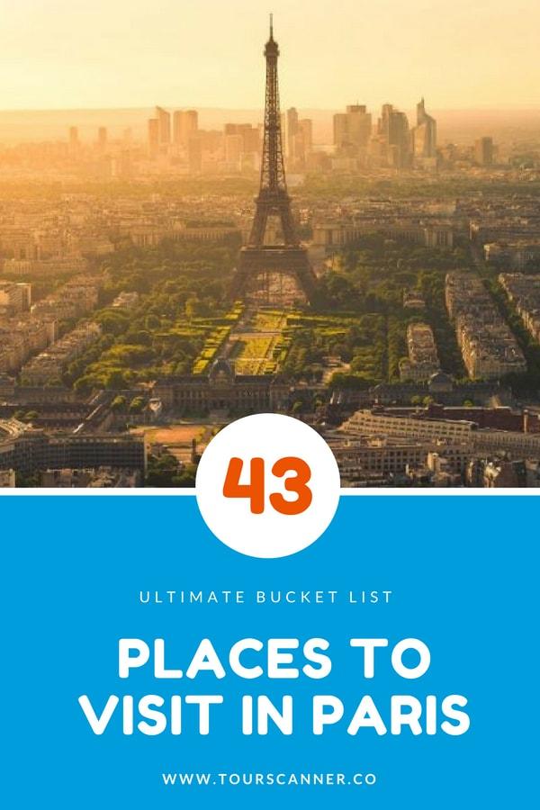 43 lugares e atrações em Paris