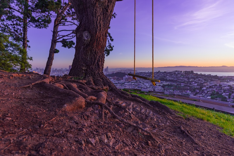 Swing on a rope watching the city - Things to do in San Francisco