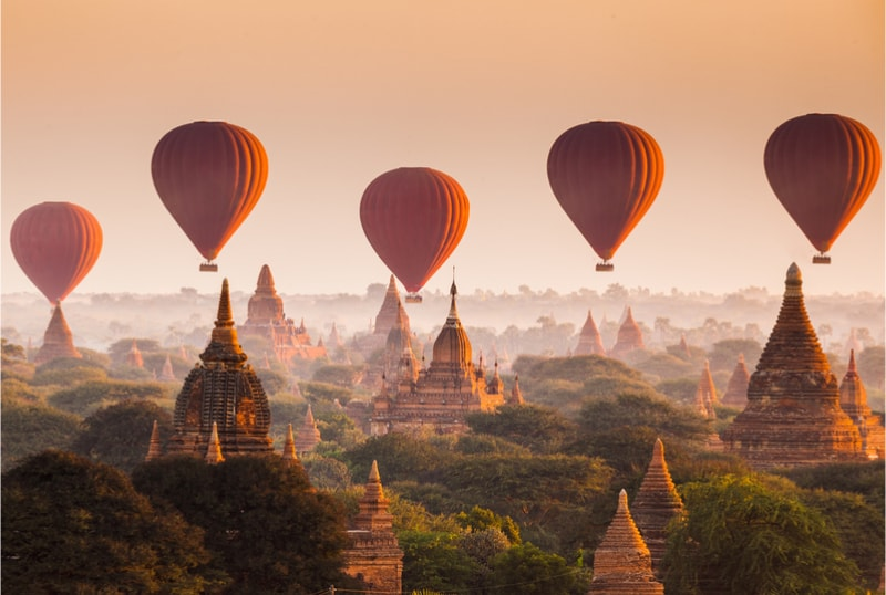 Bagan temples in Myanmar - Bucket List ideas