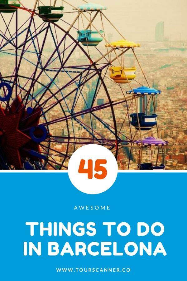 45 Coisas para fazer em Barcelona