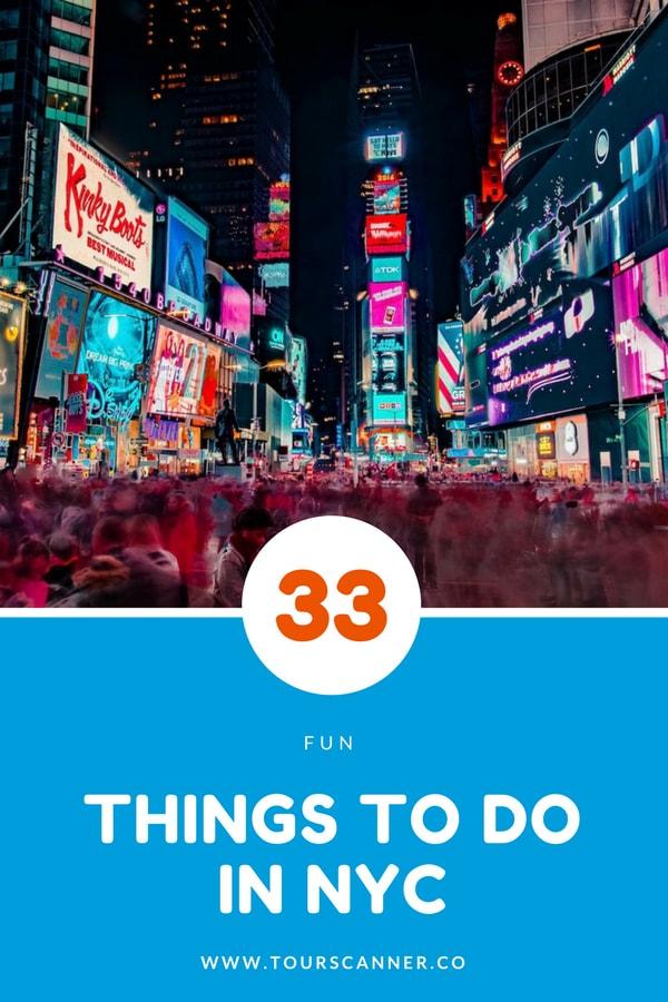 33 Coisas para fazer em Nova Iorque